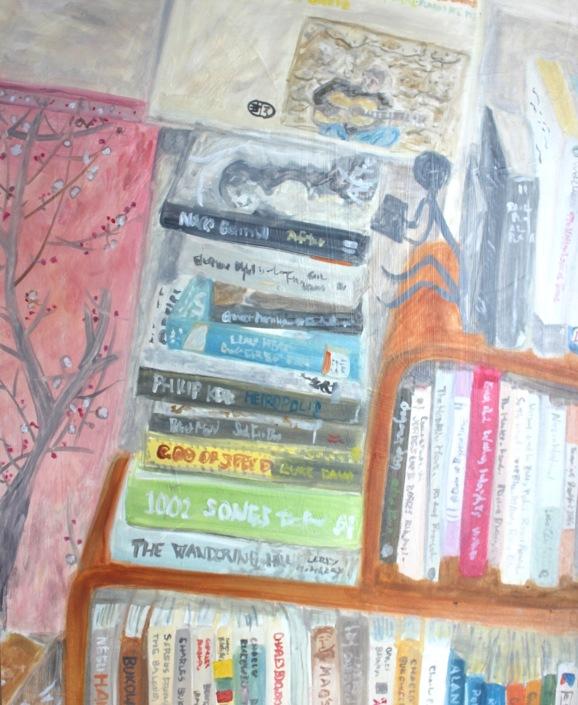 Bookshelf with Chet Baker & Hiroshige