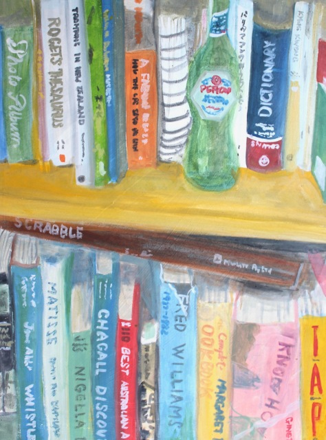 Bookshelf with Peroni